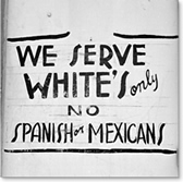 Restaurant Sign (1949): Whites Only